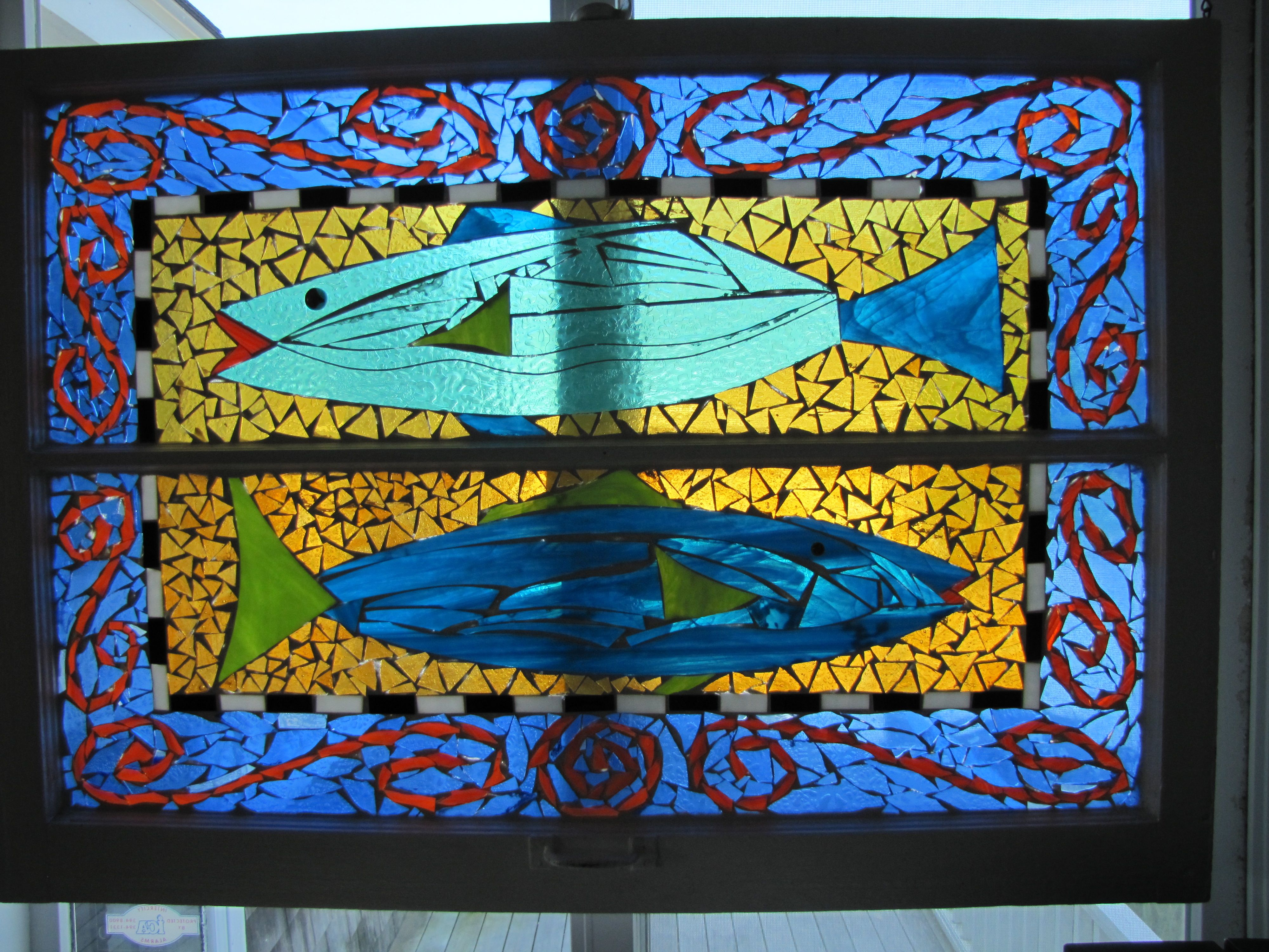 June 2012 color calling for Stained glass fish